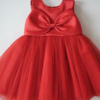 Baju Pesta Anak Merah Happyelm Melinda Red