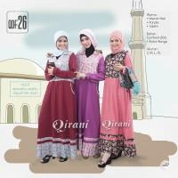 Qirani Dewasa Mawar 26 | Baju Perempuan Wanita Muslim Gamis Dress.