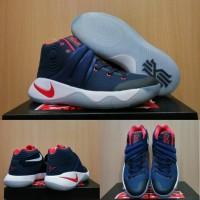 Sepatu Basket Nike Kyrie 2 USA Navy Blue White Biru Dongker Putih