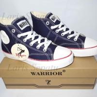 Sepatu Sekolah - Warrior Classic HC - Navy - Blue - Biru