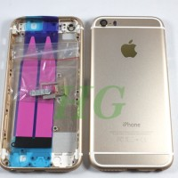 HOUSING / CASING IPHONE 5S MODEL IPHONE 6 GOLD NEW