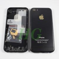 HOUSING / CASING IPHONE 5S MODEL IPHONE 6 BLACK LOGO GOLD NEW