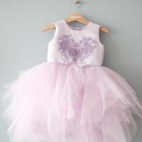 Baju Pesta Anak Tutu Unggu Happyelm Lavea Purple