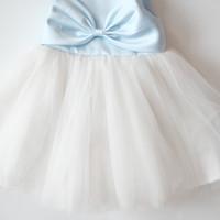Baju Pesta Pink Anak Happyelm Melinda PIta Biru Putih