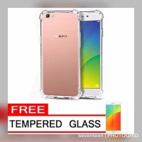 case anti crack for oppo a37  free tempered glass