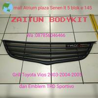 Grill Toyota vios 2003-2004-2005 dan Emblem TRD Sportivo