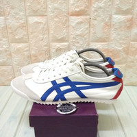 ASICS ONITSUKA TIGER MEXICO 66 DELUXE WHITE BLUE RED BNIB - 40