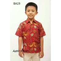 Baju kemeja Anak Cowok/Baju Batik Anak Laris/Kemeja Anak Umur 6 Tahun