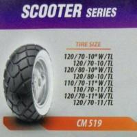 Ban CST VESPA LX V S belakang 120 70 ring 10 white wall putih classic