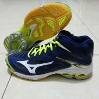 Sepatu Volly Voli Mizuno V1GA170571 Wave Lightning Z3 Mid Blue Depths