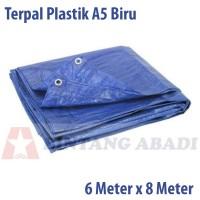 Terpal Plastik Jadi 6 x 8 Mtr Biru Tipe A5 u/ Tutup Truk, Warung Tenda