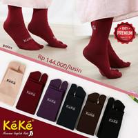 Qonitah Project Kaos Kaki Polos Original Keke Busana Baju Muslim Brand