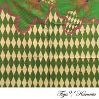 Kain Batik Print Motif Prisma Hijau Bahan Jarik Kebaya Kemeja Atasan