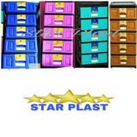 lemari plastik/ lemari pakaian/ lemari laci Napolly STB 500