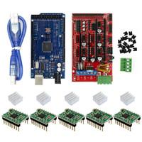 Arduino mega 2560 R3 CH340+RAMPS 1.4.controller board+5pcs a4988