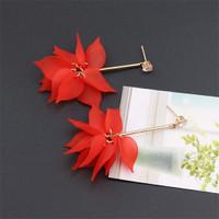 Earrings anting korea tassel earrings anting murah hits merah red
