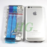 HOUSING / CASING IPHONE 5S MODEL IPHONE 6 SILVER NEW