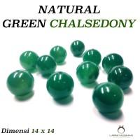 Batu Natural Green Chalsedony - Bahan Aksesoris Batu - Gelang - Tasbih