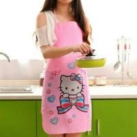 Celemek Apron Masak Waterproof Karakter Hello Kitty Pink