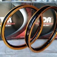 velg sepasang Tdr 2tone ukuran 140 - 160 ring 17