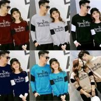 kaos couple together lengan panjang - baju pasangan together