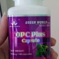 OPC PLUS CAPSULE ORIGINAL GREEN WORLD/ PEMUTIH KULIT HERBAL ALAMI