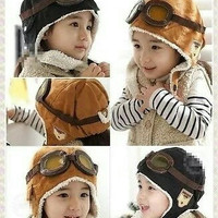 topi pilot korea anak - korean cap bayi - kupluk gaul musim dingin