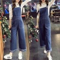 DeltaRN PLAYSUIT KULOT NARITA TUA Jumpsuit Jeans Baju Kodok Cewek Ter