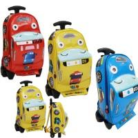 NEW Tas Anak Sekolah Trolley PAUT Bus TAYO Bahan Kain Sponge Anti Air