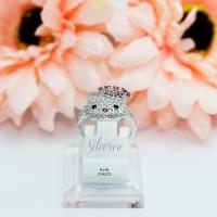 cincin hello kitty perhiasan perak lapis emas putih / silver rhodium