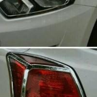 Paket Garnish lampu Depan+ Belakang Datsun Go/ Go+