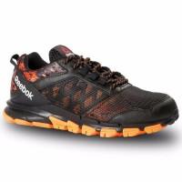 New Sepatu Lari Running Reebok Trail Warrior Hitam Orange Original Mu
