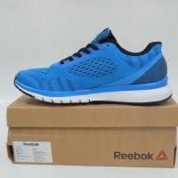 New Sepatu Lari Running Reebok Print Smooth ULTK BIRU Original Murah