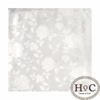 Pocket Square SapuTangan Jas WHITE FLOWER POCKET SQUARE