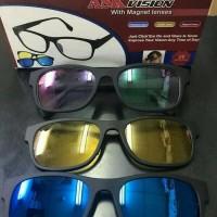 #EH127 / Kacamata 3in1 Ask Vision Magnet Lenses 1 Pack isi 3 Pcs