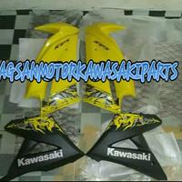 cover fairing atas dan bawah new ninja rr kuning batik 2013 original
