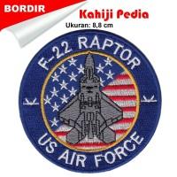 PATCH bordir Emblem LOGO BORDIR bet badge US Air Force F-22