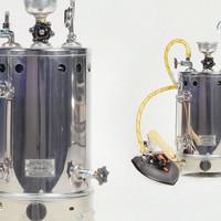 Setrika Uap Boiler Gas Maomoto kapasitas 5 liter/boiler laundry