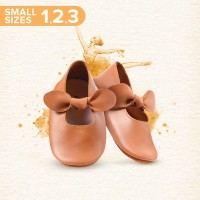Mary Jane Ballet Shoes SMALL - Caramel (Sepatu Bayi PYOPP)