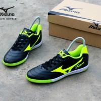 sepatu futsal mizuno fortuna hitam hijau original premium size 38 44