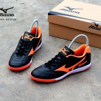 sepatu futsal mizuno fortuna hitam orange original premium size 38 4