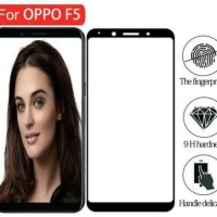 Tempered Glass Full 3D oppo F5 anti gores kaca curved warna