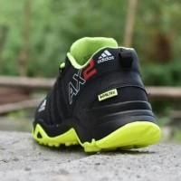 Sepatu Sport Adidas Ax2 Goretex Hitam Hijau Stabilo - Outdoor - Ax 14
