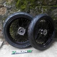 Wheelset Supermoto KLX 150 Dtracker - Ban FDR Blaze 17 - 110 & 130