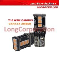 Autovision Microzen LED T10 W5W 12V 4,5W 9SMD CANbus Amber Lampu Sein