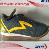 Sepatu futsal specs horus dark charcoal yellow 2015 original