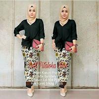 Baju / Setelan Kebaya Batik Remaja Motif Cantik CDX Pitaloka Set Black