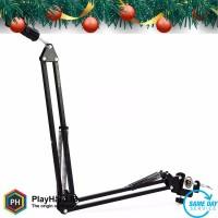 Arm Stand Suspensi Lazypod Mikrofon - Black