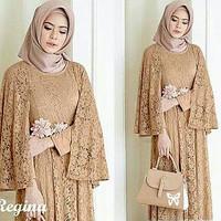 maxi cape regina mocca fashion wanita gamus dres baju muslim