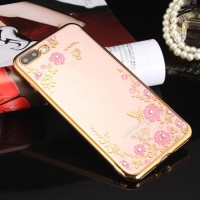TPU FLOWER iPhone 5 5s SE 6 6s 7 8 Plus soft case casing back cover